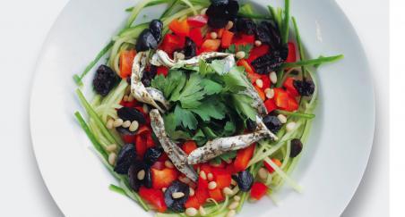 Salata - inćuni, krastavci, paprika i masline - PROČITAJTE