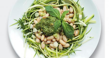 Salata - bijeli grah, tikvica i pesto - PROČITAJTE