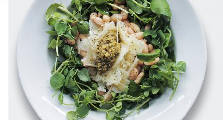 Salata - Bijeli grah, tvrdi ovčji sir, pinjoli i potočarka -...