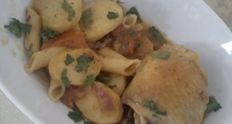 Makarone s krompirom i piletinom