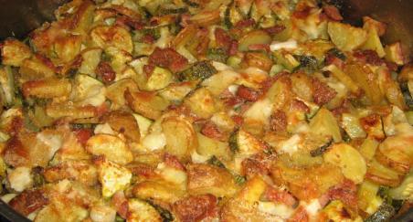 Krumpir s povrćem i šampinjonima