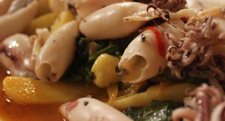 Blitva s rajčicom, krumpirom i lešo lignje - PROČITAJTE