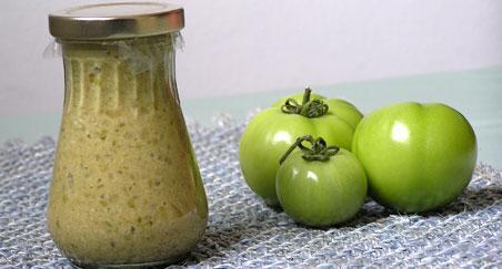 pikantne zelene rajčice
