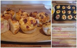 Slani muffini sa šunkom i sirom